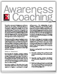 Awareness coaching